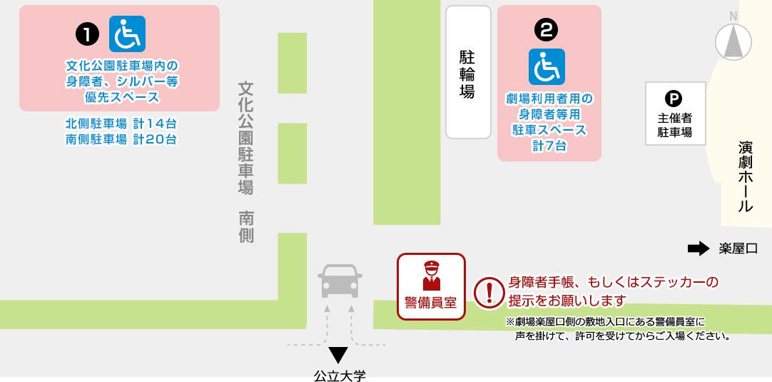 身障者等用駐車場