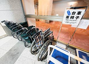 車椅子貸し出し(写真)